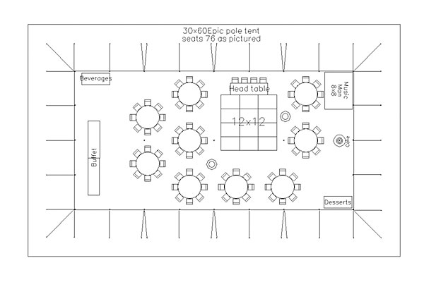 Wedding reception floor plan template gurus floor for Banquet floor plan template